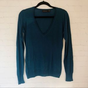 [The Limited] teal v-neck knit sweater M
